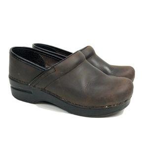 Dansko Clogs Professional Antique Brown US 5.5-6